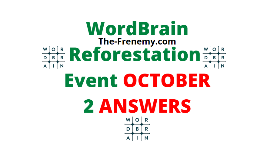 Wordbrain reforestation october 2 2020 answers daily