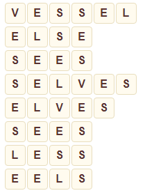 Wordscapes Below 10 level 7978 answers