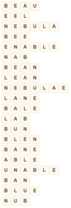Wordscapes Bluff 4 level 9268 answers