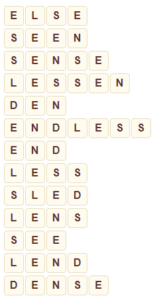 Wordscapes Dawn 8 level 8392 answers