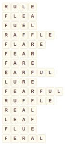 Wordscapes Frond 14 level 8206 answers