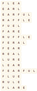 Wordscapes Frond 2 level 8722 answers