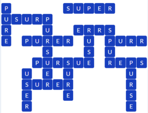 Wordscapes Icey 2 level 19186 answers