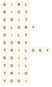 Wordscapes Icey 7 level 9127 answers