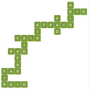 Wordscapes Leaf 14 level 17182 answers