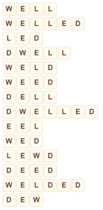 Wordscapes Marsh 6 level 8998 answers