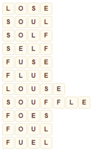 Wordscapes Pyre 5 level 7477 answers