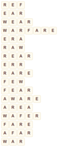 Wordscapes Pyre 8 level 9544 answers