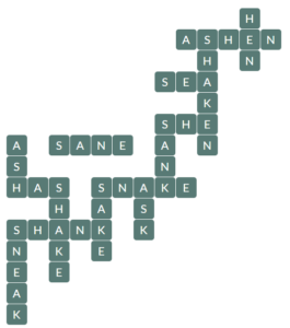Wordscapes River 12 Level 14268 Answers