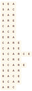 Wordscapes Sail 5 level 8805 answers