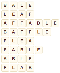 Wordscapes Sierra 7 level 8023 answers