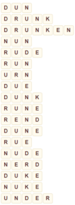 Wordscapes Thick 1 level 6977 answers