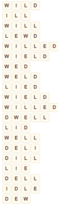 Wordscapes Vally 5 level 6373 answers