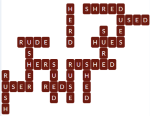 wordscapes Ruby 6 level 19814 answers