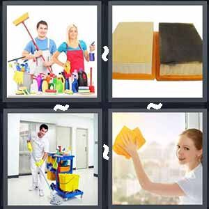 4 Pics 1 word Level 295 Answers
