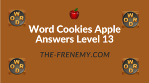 Word Cookies Apple Answers Level 13