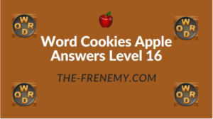 Word Cookies Apple Answers Level 16