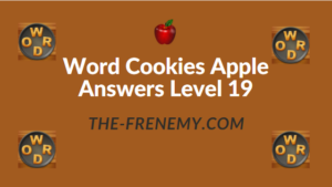 Word Cookies Apple Answers Level 19