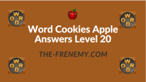 Word Cookies Apple Answers Level 20