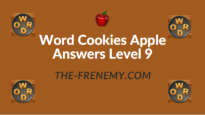 Word Cookies Apple Answers Level 9