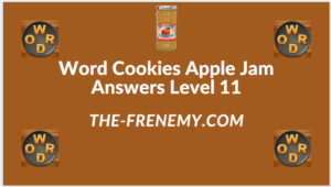 Word Cookies Apple Jam level 11 Answers
