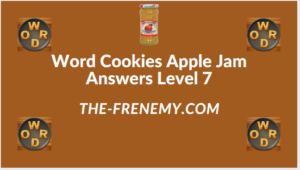 Word Cookies Apple Jam level 7 Answers