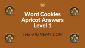 Word Cookies Apricot Answers Level 1