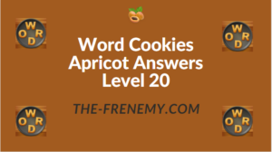 Word Cookies Apricot Answers Level 20
