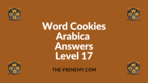 Word Cookies Arabica Level 17 Answers