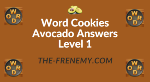 Word Cookies Avocado Answers Level 1