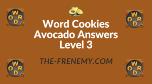 Word Cookies Avocado Answers Level 3