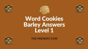 Word Cookies Barley Answers Level 1