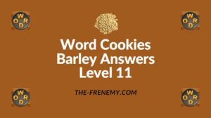Word Cookies Barley Answers Level 11