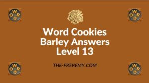 Word Cookies Barley Answers Level 13