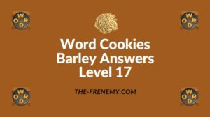 Word Cookies Barley Answers Level 17