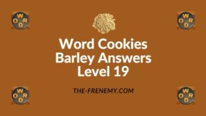 Word Cookies Barley Answers Level 19