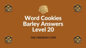 Word Cookies Barley Answers Level 20