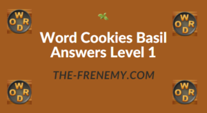 Word Cookies Basil Answers Level 1
