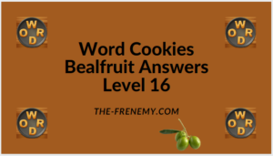 Word Cookies Bealfruit Level 16 Answers