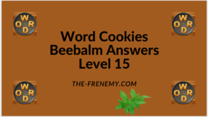 Word Cookies Beebalm Level 15 Answers