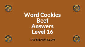 Word Cookies Beef Level 16 Answers