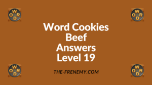 Word Cookies Beef Level 19 Answers