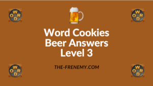 Word Cookies Beer Answers Level 3