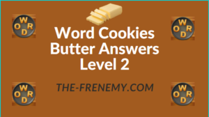 Word Cookies Butter Answers Level 2