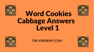 Word Cookies Cabbage Level 1 Answers