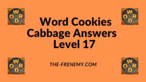 Word Cookies Cabbage Level 17 Answers