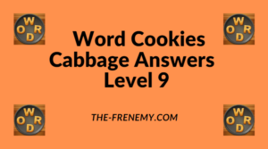 Word Cookies Cabbage Level 9 Answers