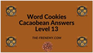 Word Cookies Cacaobean Level 13 Answers