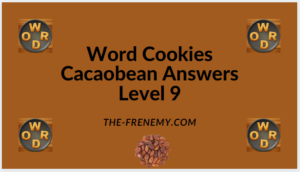 Word Cookies Cacaobean Level 9 Answers