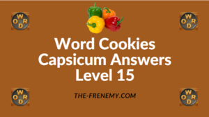 Word Cookies Capsicum Answers Level 15